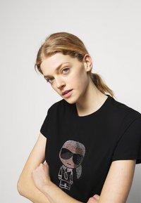 KARL LAGERFELD - IKONIK RHINESTONE KARL - T-Shirt print - black - 3