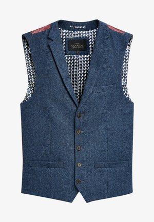 BLEND WAISTCOAT - Suit waistcoat - mottled blue