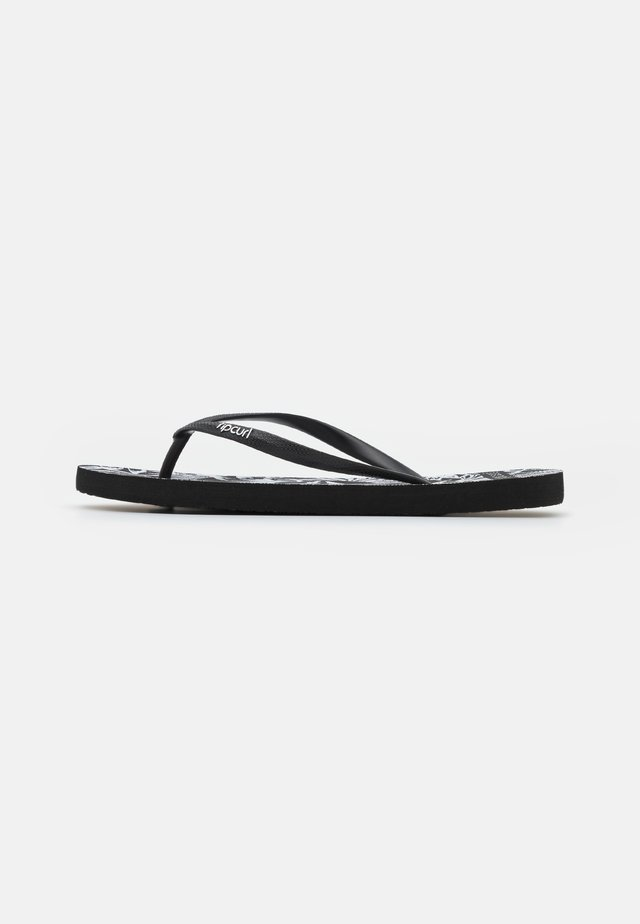 SURF PALMS - Chanclas de dedo - black