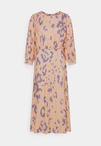 V-BACK WITH BOW MIDI DRESS - Denní šaty - peach