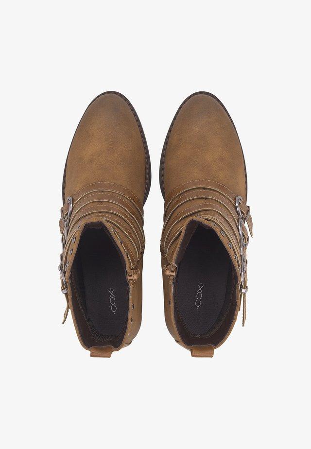 TREND-STIEFELETTE - Ankle boots - mittelbraun