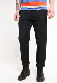 Carhartt WIP - MASTER PANT DENISON - Spodnie materiałowe - black rinsed - 0