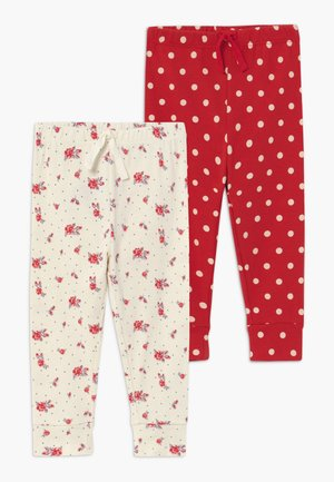 DOT PANT BABY 2 PACK - Leggings - ivory frost