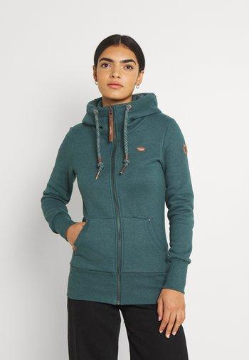 NESKA ZIP - Zip-up sweatshirt - dark green