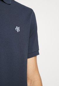 Marc O'Polo - SHORT SLEEVE BUTTON PLACKET - Polo shirt - total eclipse - 4