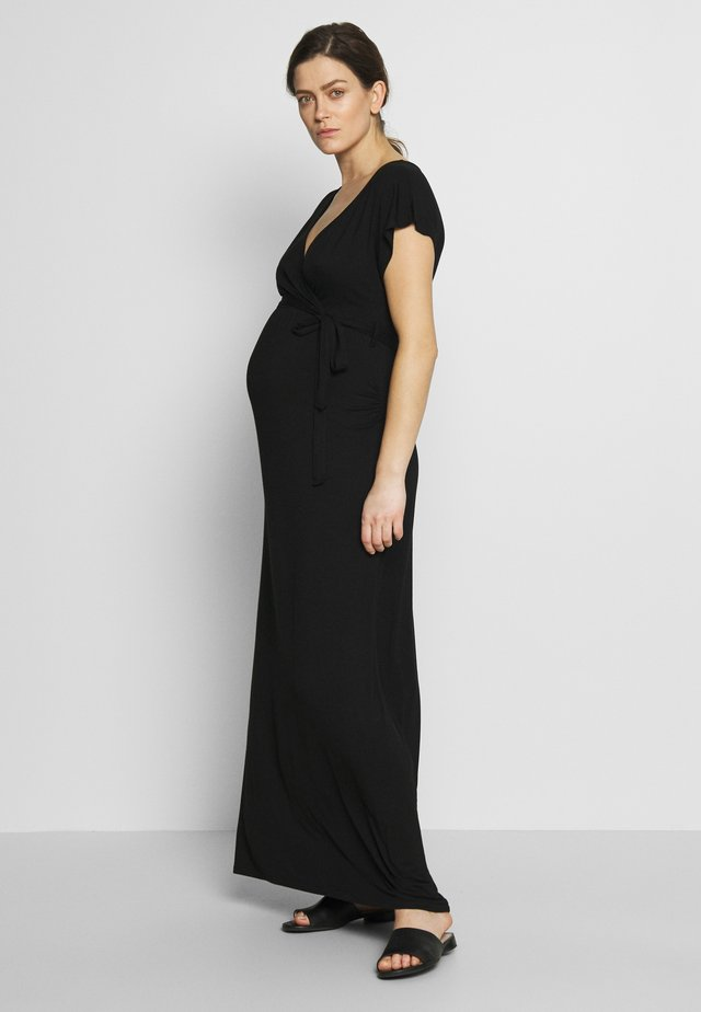 PLAIN WRAP I DRESS - Jerseyjurk - black