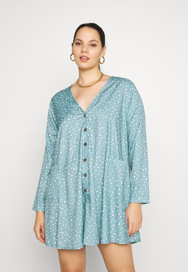 DALMATIAN BUTTON SMOCK DRESS - Day dress - blue