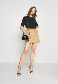 ONLY - ONLLINEA BONDED SKIRT  - A-line skirt - toasted coconut - 1