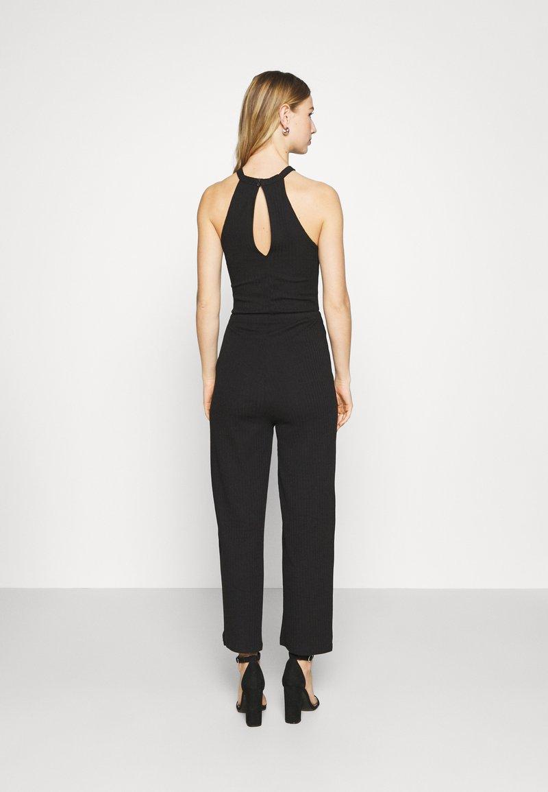 INC NEW Women/'s Solid Halter-neck Wide-leg Jersey Jumpsuit TEDO