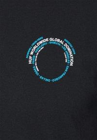 HUF - ROBOTICS TEE - Print T-shirt - black - 2
