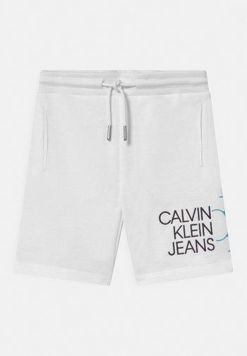 HYBRID LOGO - Shorts - white