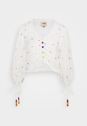 BEADED BLOUSE - Blouse - off-white
