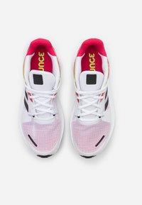 adidas Performance - ALPHATORSION - Zapatillas de running neutras - footwear white/core black/power pink - 3