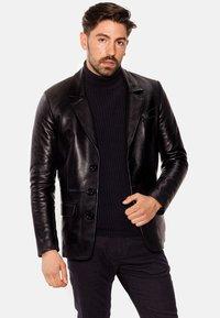 LEATHER HYPE - HYPE BLAZER - Leather jacket - black - 5