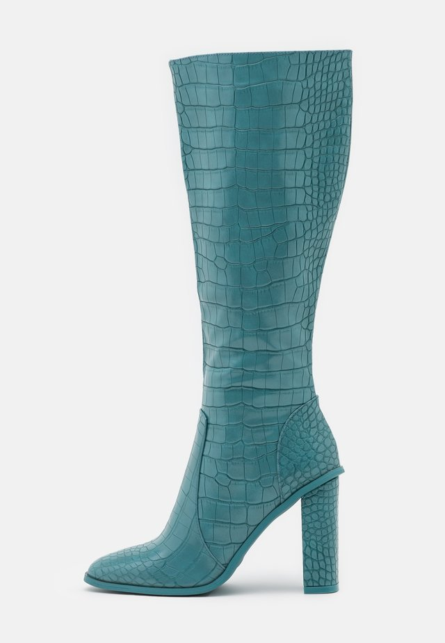 CELENI - High heeled boots - turquoise