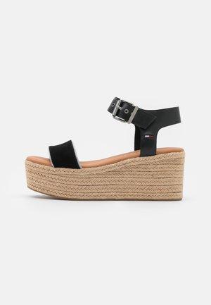 ESSENTIAL FLATFORM - Platform sandals - black