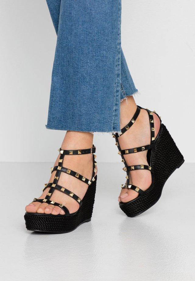 SUMMER - High heeled sandals - black
