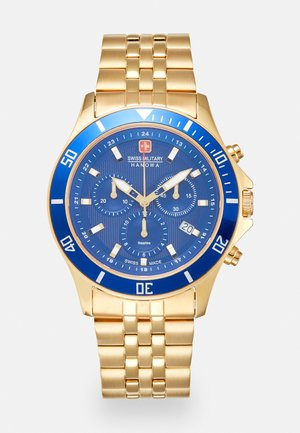FLAGSHIP CHRONO II - Chronograph watch - gold-coloured/blue
