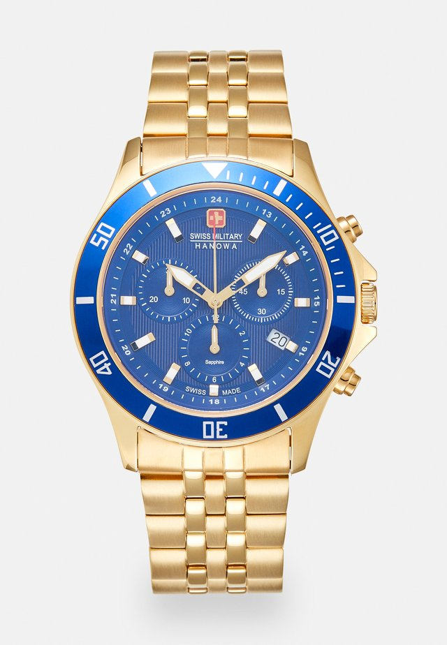 FLAGSHIP CHRONO II - Zegarek chronograficzny - gold-coloured/blue