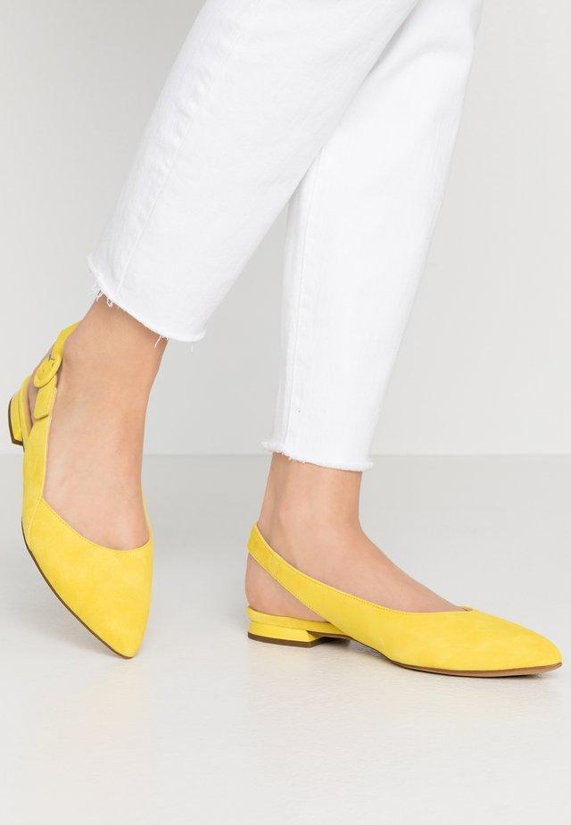 Slingback ballet pumps - limone