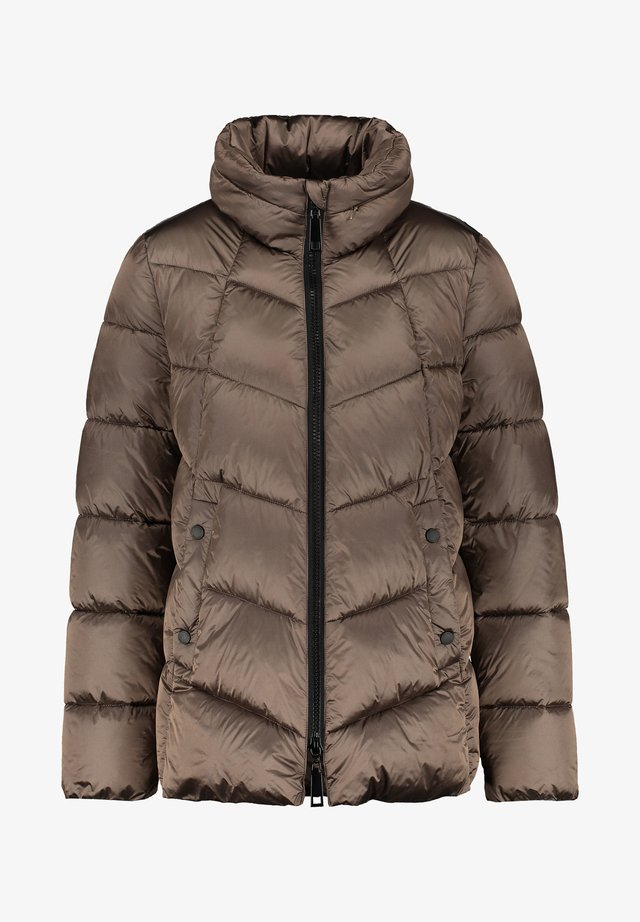 MIT DIAGONALEM STEPP - Winter jacket - dunkel taupe