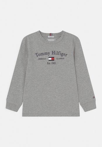 ARTWORK TEE UNISEX - Topper langermet - light grey heather