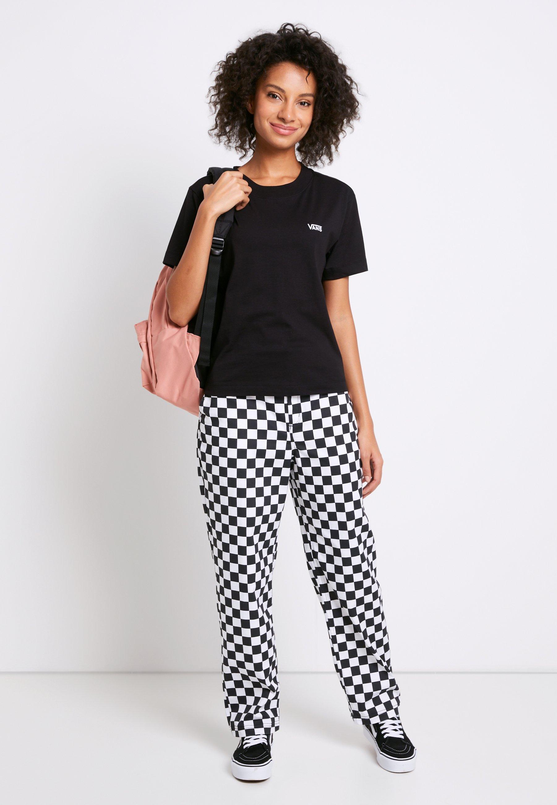 WM JUNIOR V BOXY - T-shirt basic - black