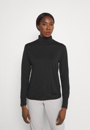 ROAMAWAY MOCK NECK - Long sleeved top - black