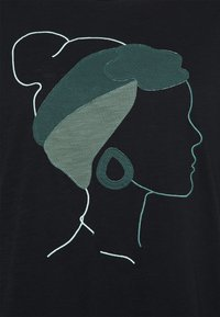 MY TRUE ME TOM TAILOR - FRONT ARTWORK - Print T-shirt - deep black - 2