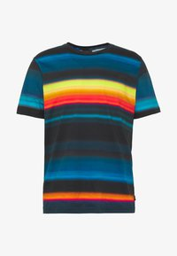 MENS FIT RAINBOW STRIPE - T-shirt z nadrukiem - multi