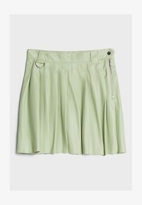 Bershka - MIT KELLERFALTEN - Pleated skirt - green - 4