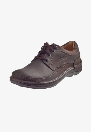 NATURE THREE - Casual lace-ups - ebony oil