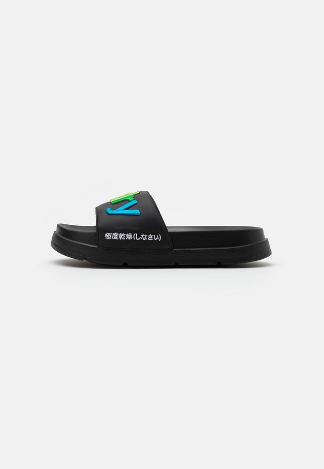 RAINBOW FLATFORM SLIDE - Mules - black