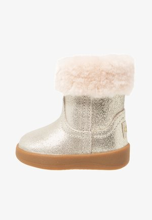 JORIE METALLIC - Baby shoes - gold