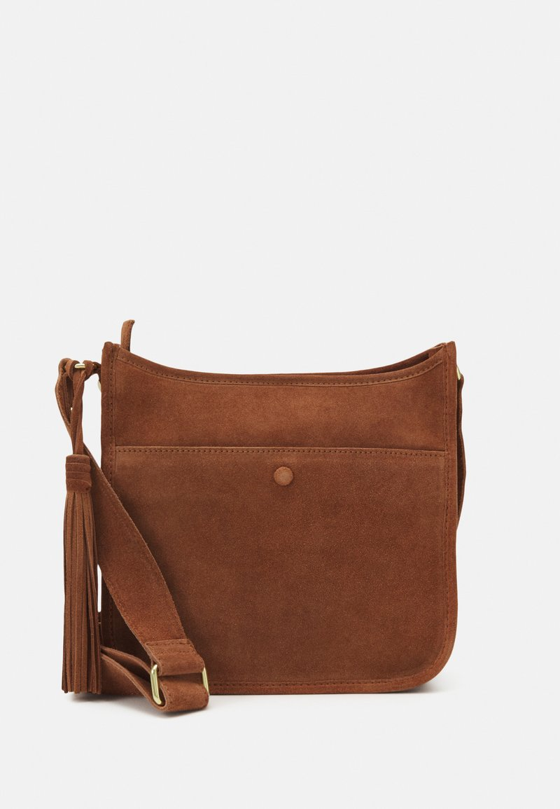 Zign - LEATHER - Across body bag - cognac