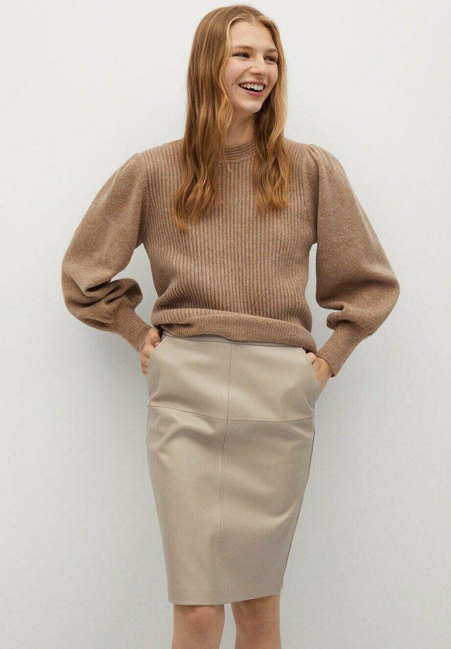 PENCIL - Spódnica ołówkowa  - beige