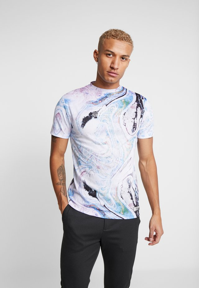 MARBLE TEE - T-shirts med print - white
