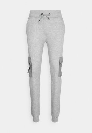 CHELSEA - Tracksuit bottoms - grey marl/jet black