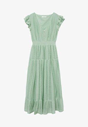 Korte jurk - pastelowa zieleń