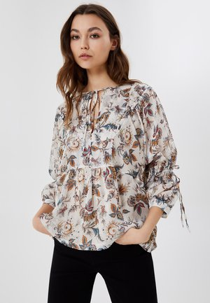 WITH STRING - Blouse - offwhite