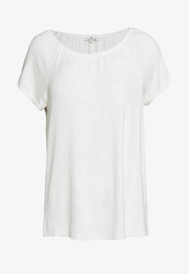 TOM TAILOR - CARMEN  - Basic T-shirt - whisper white