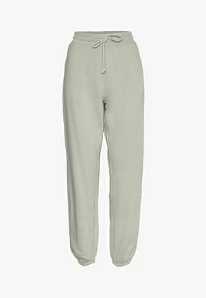 HIGH WAIST - Tracksuit bottoms - mineral gray