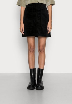 SKIRT STRAIGHT - Mini skirt - black
