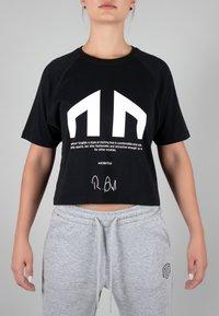 MOROTAI - Print T-shirt - black - 0