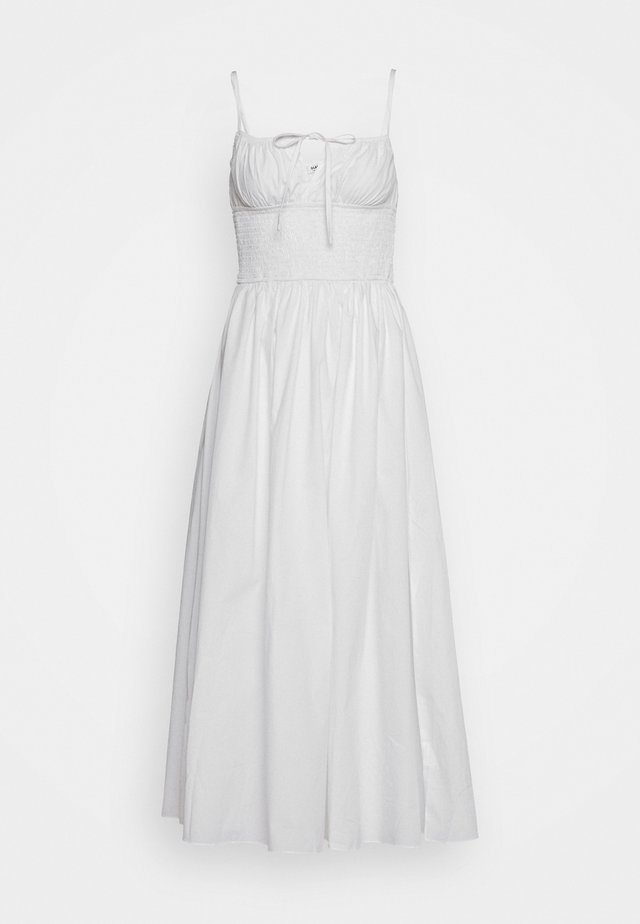 MAXI DRESS WITH RUCHED DETAIL - Maxikjole - white