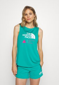 The North Face - WOMENS GLACIER TANK - Sports shirt - jaiden green - 0