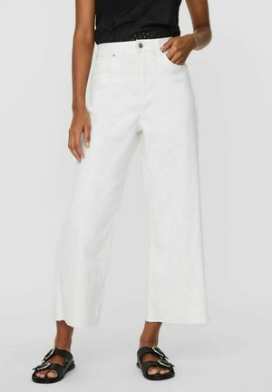 Flared jeans - bright white