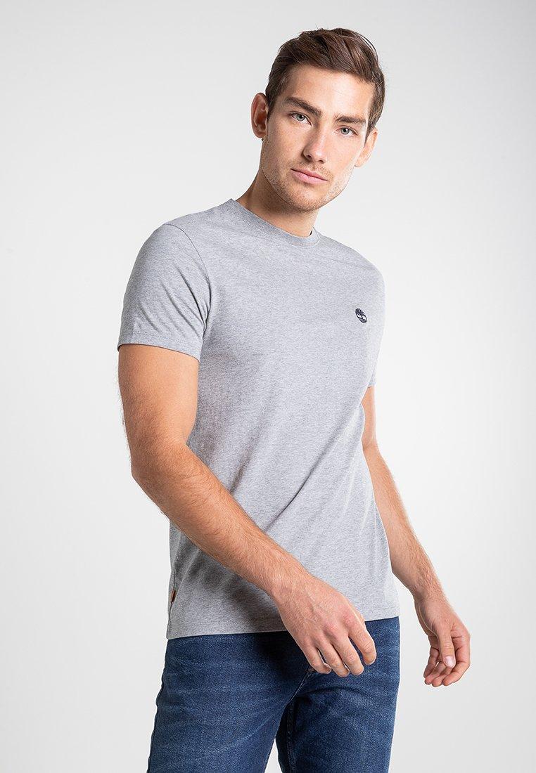 Timberland - SS DUNSTAN RIVER - Print T-shirt - medium grey heather