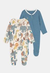 Marks & Spencer London - BABY ANIMAL 2 PACK - Sleep suit - blue - 0