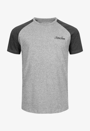 JORHUNTER - Print T-shirt - light grey melange
